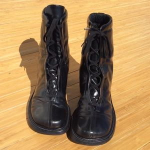 Pollini Italian Boots Military Punk Goth Women 7.5